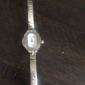 Authentic Gucci silver bracelet watch